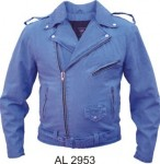 Men's Blue Denim Motorcycle Jacket AL2953