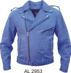 Men's Blue Denim Motorcycle Jacket AL2953