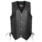 USA Leather Ten Pocket Vest 1204