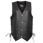 USA Leather Ten Pocket Vest 1204