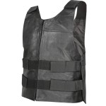 Xelement Men's Bulletproof Style Tactical Street Cowhide Leather Vest B263