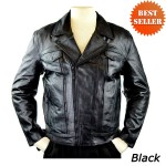 Detour Roundabout Leather Motorcycle Jacket with CE Armor