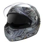 Hawk KT Series Jet Skull Matte Full Face Helmet HX-4435