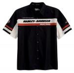 Screamin Eagle Racing Stripe Mechanic Black Short Sleeve Shirt 99149-10VM