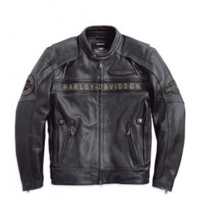 Harley-Davidson Men's Spencer Reflective Black Leather Jacket. 97183-14VM