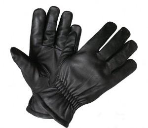 Black Leather Elastic Wrist Ultra Riding Gloves XG1414