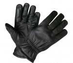 Black Leather Elastic Wrist Ultra Riding Gloves XG1414
