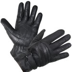 Xelement XG-797 Black All-Weather Leather Motorcycle Gloves