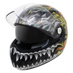 Hawk KT Series Flaming Skull Full Face Helmet KT-4425