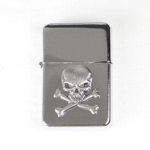 Skull and Crossbones Chrome Lighter