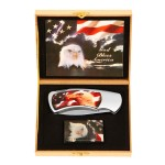 USA Flag and Eagle Knife and Lighter Set