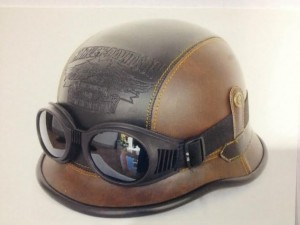 HARLEY DAVIDSON Motorcycle Helmet German 2nd War Brown/Black