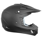 Hawk TX-12 Matte Black Motocross Helmet