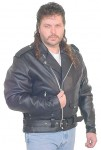 Big and Tall Leather Motorcycle Jacket M727ZT