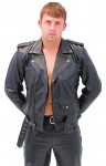 Tall Antique Classic Leather Motorcycle Jacket MA110ZT-05