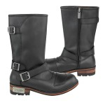 Xelement Men's Three Buckle with Shifter Pad Motorcycle Engineer Boots LU9605