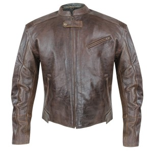 Xelement Men's Sentinel Armored Leather Motorcycle Jacket with Gun Pocket XS-20240