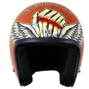 Lucky 13 Bloody Knuckles Matte Brick Open Face Helmet