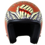 Lucky 13 Bloody Knuckles Matte Brick Open Face Helmet