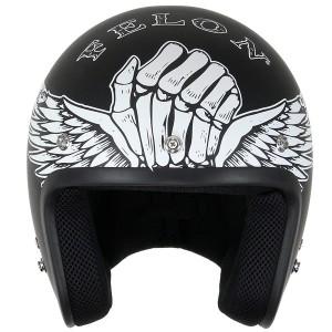 Lucky 13 Men's Bloody Knuckles Matte Black Open Face Helmet