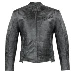 Xelement Men's Menace Amored Leather Motorcycle Jacket with Gun Pocket XS-20250