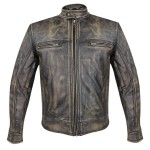 Xelement Men's Venture Armored Leather Motorcycle Jacket with Gun Pocket XS-1550