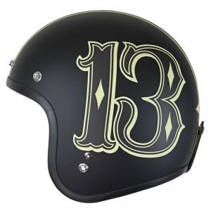 Lucky 13 Men's Number 13 Open Face Helmet
