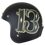 Lucky 13 Men's Number 13 Open Face Helmet