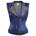 Dolled Up Women's Medium Blue Denim Vest