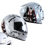 Torc T-19 Phantom White Anime Helmet