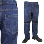 Xelement Men's Throttle Dark Blue Denim Armored Motorcycle Pants K-1972