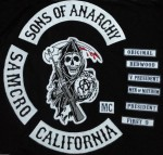 Original Sons of Anarchy Embroidery Twill Biker Patches for Jacket Back Full Size and Full Set Motorcycle Club MC Custom