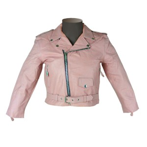 Girls Kid's Pink Leather Jacket KJ742