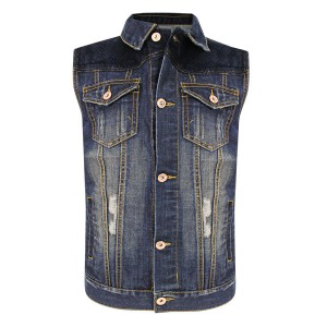 Delux Men's Vintage Blue Denim Casual Vest RCJV2