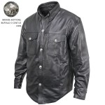 Xelement XS-908B Mens Leather Shirt