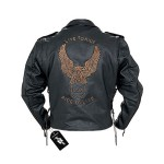 Men's Classic Biker Leather Eagle