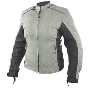Xelement Women's Meridian Siver Gray Tri-tex/Mesh Armored Motorcycle Jacket BXU2704