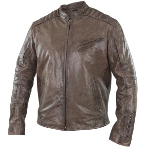 Xelement Omega Men's Distressed Brown Leather Motorcycle Jacket BXU1976