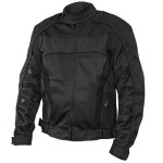 Xelement Conquest Men's Black Tri-tex/Mesh Armored Motorcycle Jacket CF-6016-11
