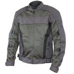 Xelement Conquest Men's Grey Tri-tex/Mesh Armored Motorcycle Jacket CF-6016-22