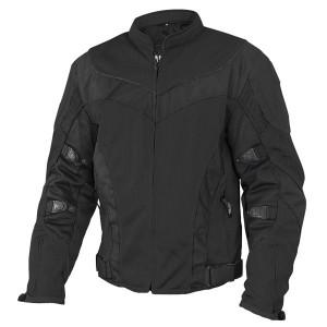 Xelement Invasion Men's Black Mesh Armored Motorcycle Jacket with Gun Pocket CF-6019-44