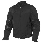 Xelement Invasion Men's Black Mesh Armored Motorcycle Jacket with Gun Pocket CF-6019-44