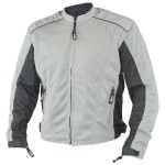 Xelement Men's Meridian Siver Gray Tri-tex/Mesh Armored Motorcycle Jacket BXU2702