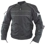 Xelement Men's Crest Tri-tex/Mesh Armored Motorcycle Jacket BXU2703