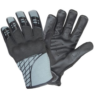 Xelement Express Mens Slate Gray Textile/Leather Gloves UK-2641.18