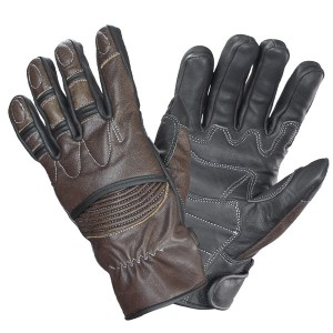 Xelement Men's Vagabond Brown/Black Leather Gloves UK-2678