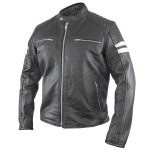 Xelement Delta Men's Leather Motorcycle Jacket BXU2775