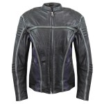 Xelement Women's Drift Black Leather Jacket BXU6807-17