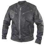 Xelement BXU2793 Vice' Men's Distressed Grey Leather Motorcycle Jacket