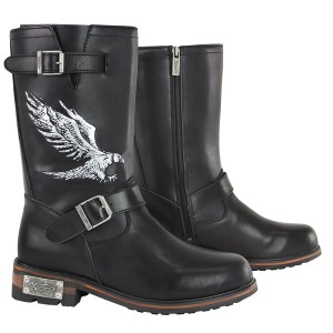 Xelement LU9616 Men's 3D Eagle Print Engineer Boots